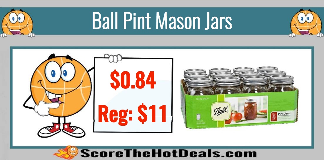 Ball Pint Mason Jars (12 Pack)