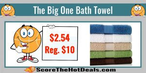The Big One Bath Towels - ONLY $2.54 (Reg. $10)!