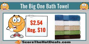 The Big One Bath Towels - ONLY $2.54 (Reg. $10)!
