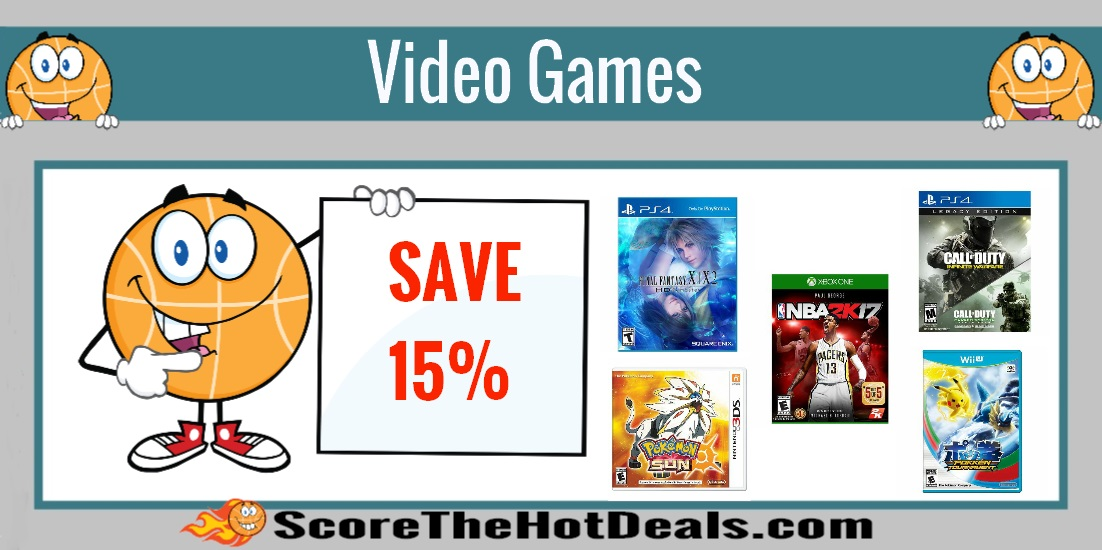 Save 15% Off Video Games