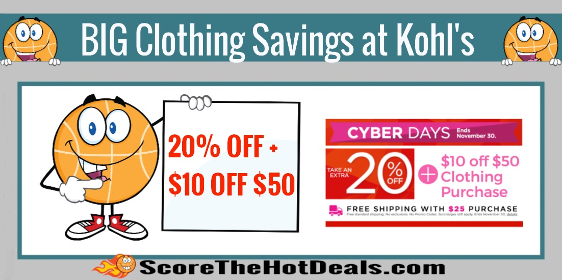 Big Savings On Clothing With Kohl's Stacking Codes