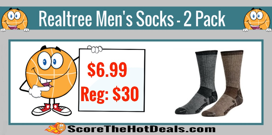 Realtree Men's Merino Wool Socks Two-Pack