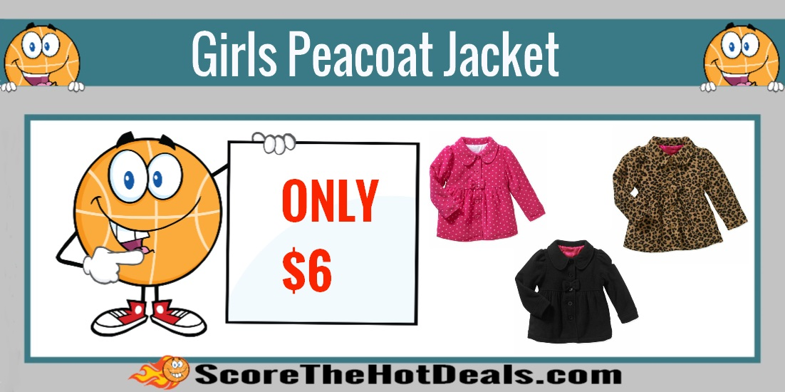 Girls Essential Peacoat Jackets