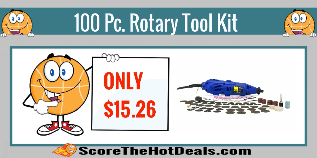 100 Piece Variable Speed Rotary Tool Kit