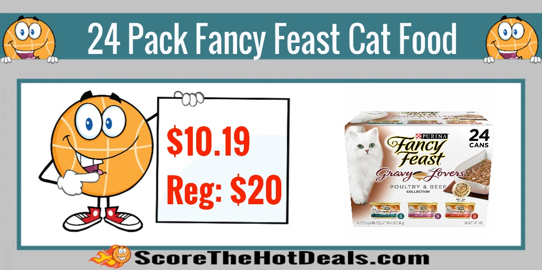 24 Pack Purina Fancy Feast Gourmet Wet Cat Food