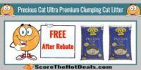 FREE Precious Cat Ultra Premium Clumping Cat Litter after Rebate for New Customers!