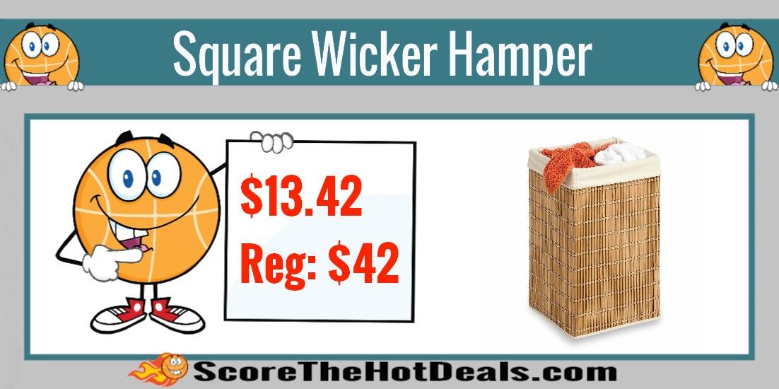 Square Wicker Hamper