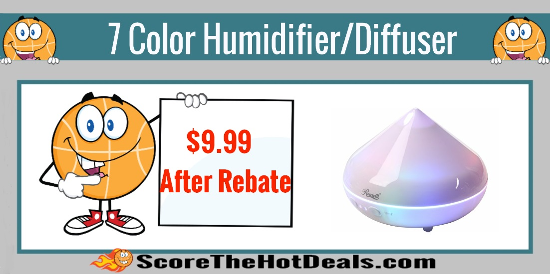 Rosewill 7 Color LED Essential Oil Diffuser/Cool Mist Humidifier