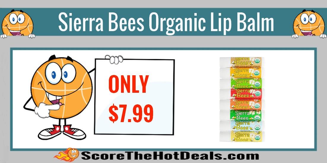 Sierra Bees Organic Lip Balm 8 Pack