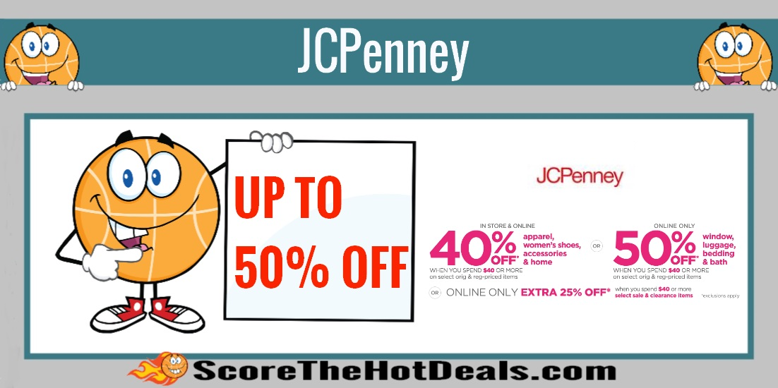Up To An Extra 50% Off at JCPenney