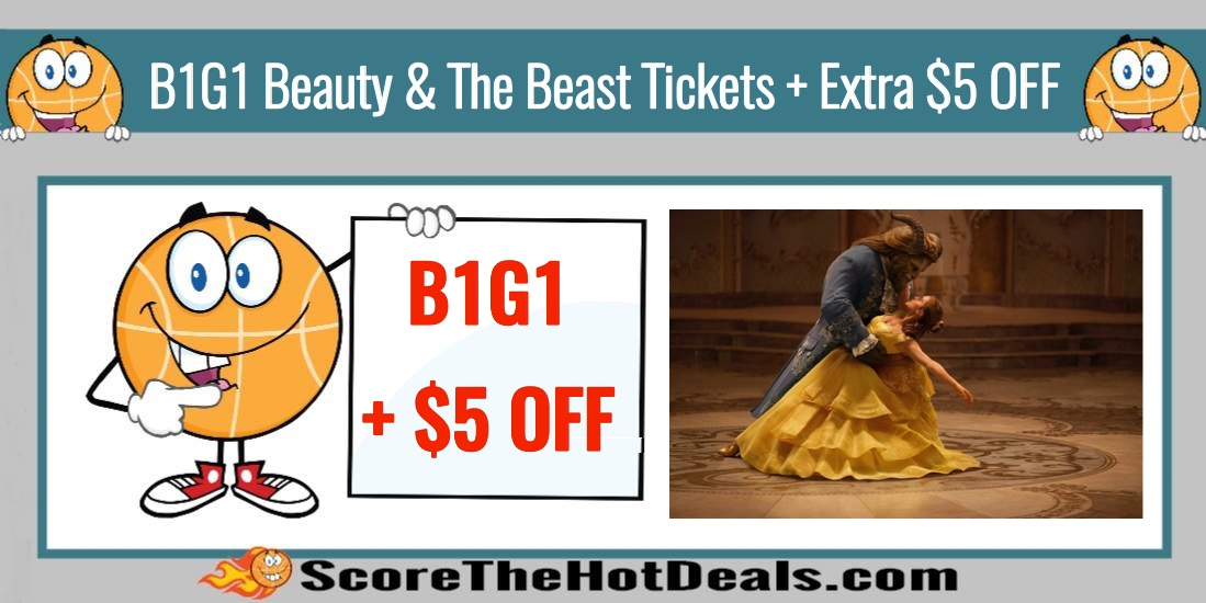 *HOT* Buy 1 Get 1 FREE Beauty & the Beast Tickets + Extra $5 Off!