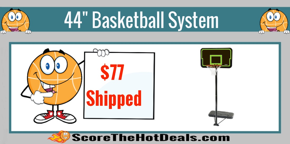 "Lifetime 44"" Streamline Impact Basketball System"