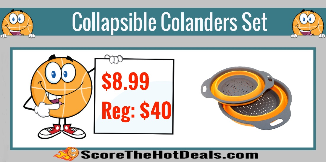 Collapsible Colanders Set