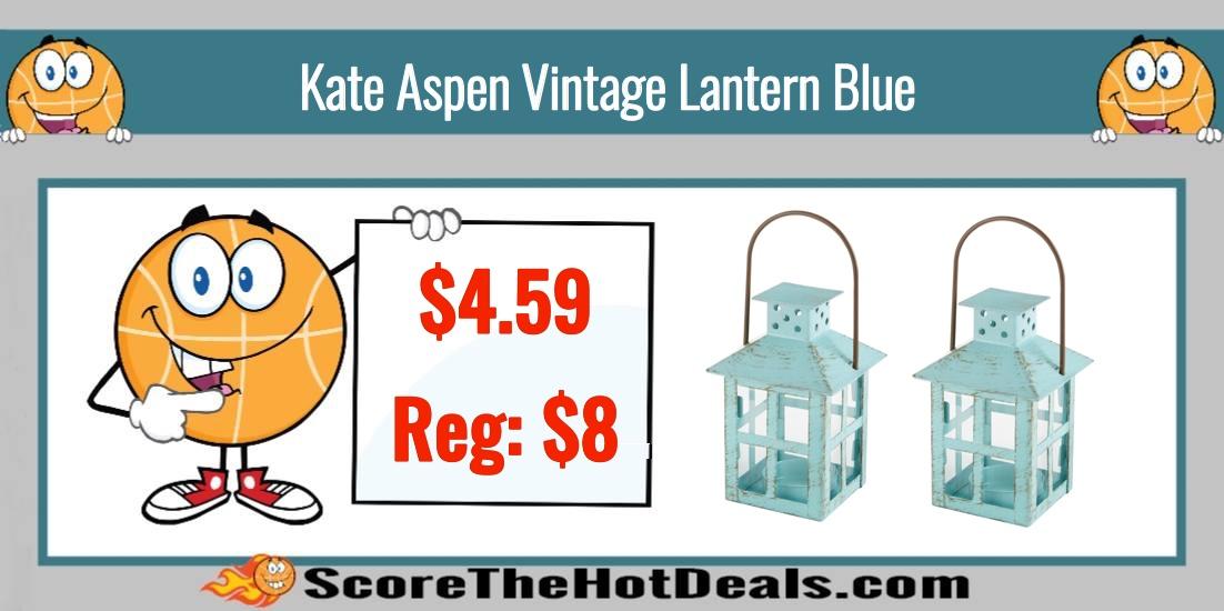 Kate Aspen Vintage Lantern Blue