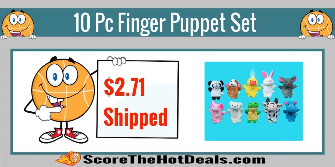 10 Piece Finger Puppet Set