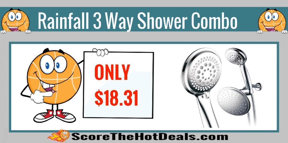 Rainfall 3 Way Shower Combo