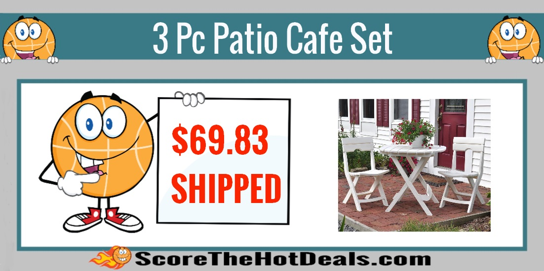 3 Piece Patio Cafe Set