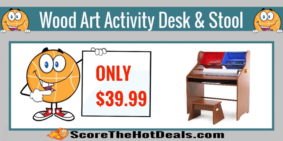 Wood Art Activity Desk