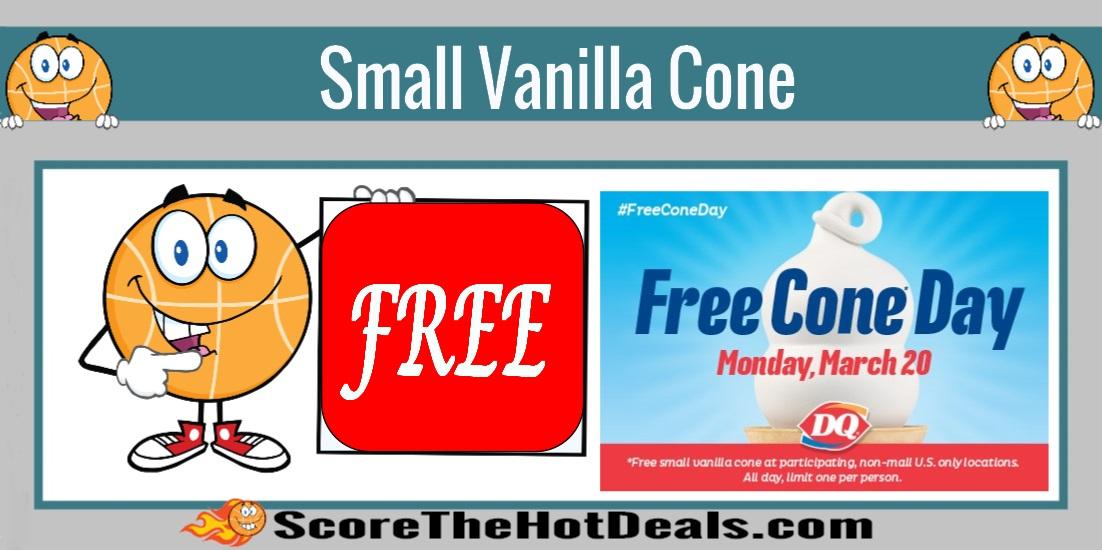 FREE Small Vanilla Cone