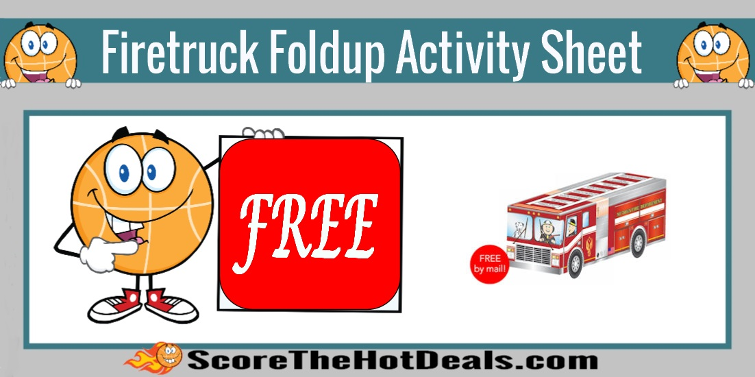 Firetruck Foldup Activity Sheet