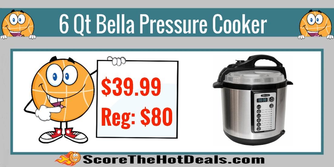 6 Qt Bella Pressure Cooker