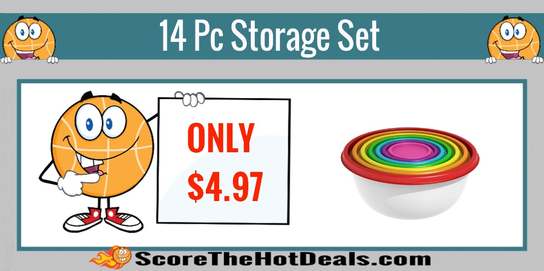Round Rainbow Food Storage Set