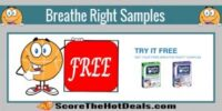 **FREE** Breathe Right Nasal Strips Sample!