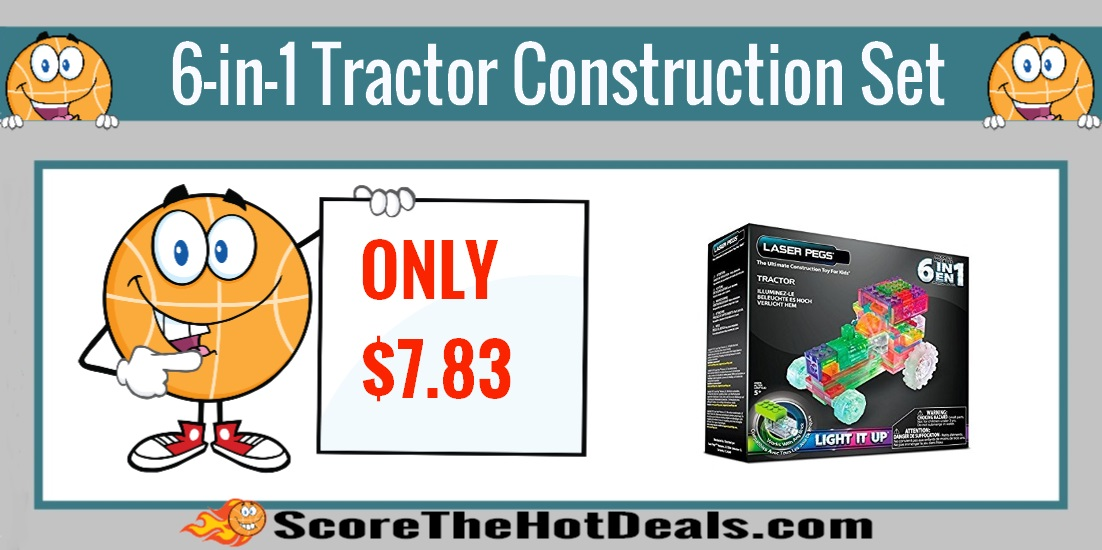Light Up 6-in-1 Tractor Construction Set