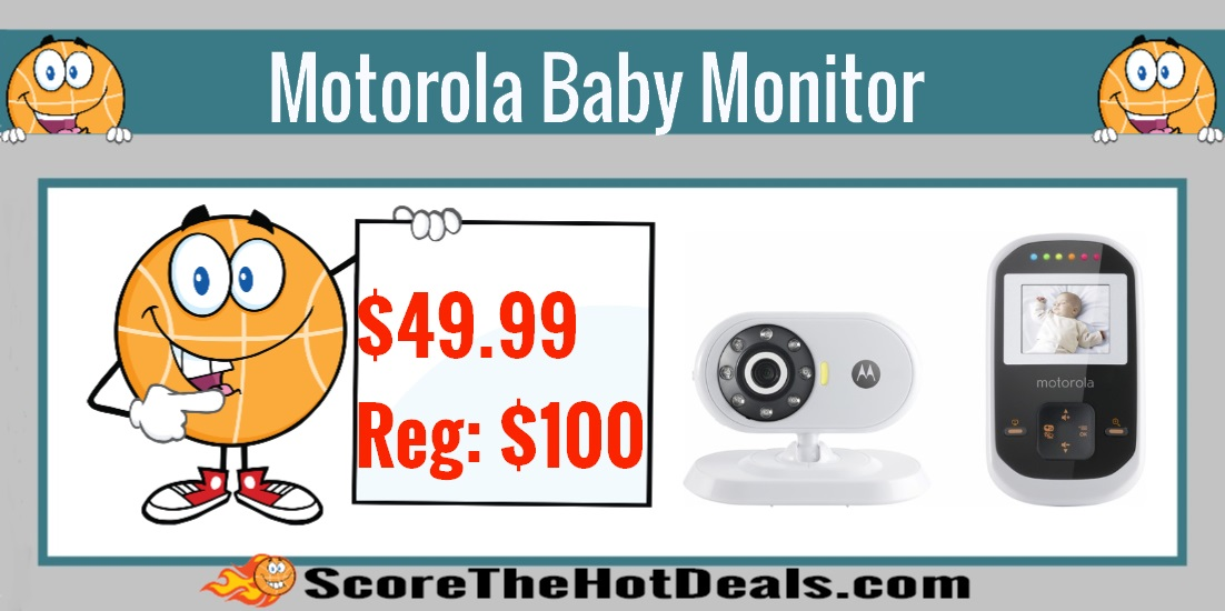 today only motorola video baby monitor only reg 100 score the hot deals. Black Bedroom Furniture Sets. Home Design Ideas