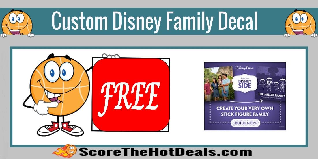 Custom Disney Family Decal!