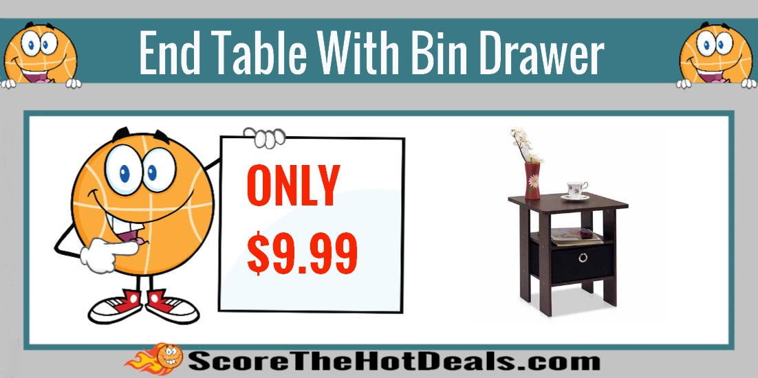 End Table With Bin Drawer