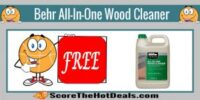 *FREE* Behr All-In-One Wood Cleaner!!