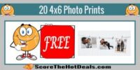 TODAY ONLY!! Get 20 4x6 Photo Prints SHIPPED - At No Cost!