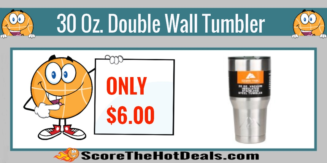 30 Oz. Double Wall Vacuum Sealed Tumbler