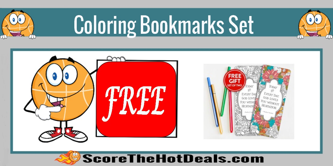 Set Of Coloring Bookmarks