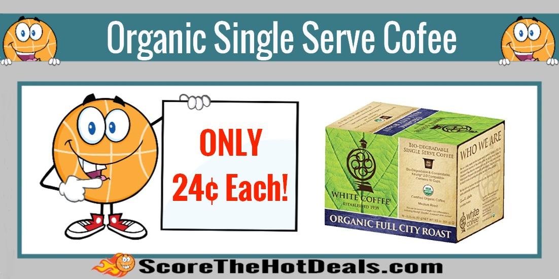 Organic Single Serve Bio-degradable Coffee Cups