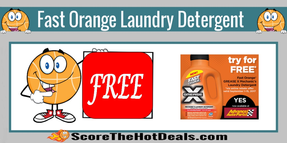 Fast Orange Grease-X Laundry Detergent
