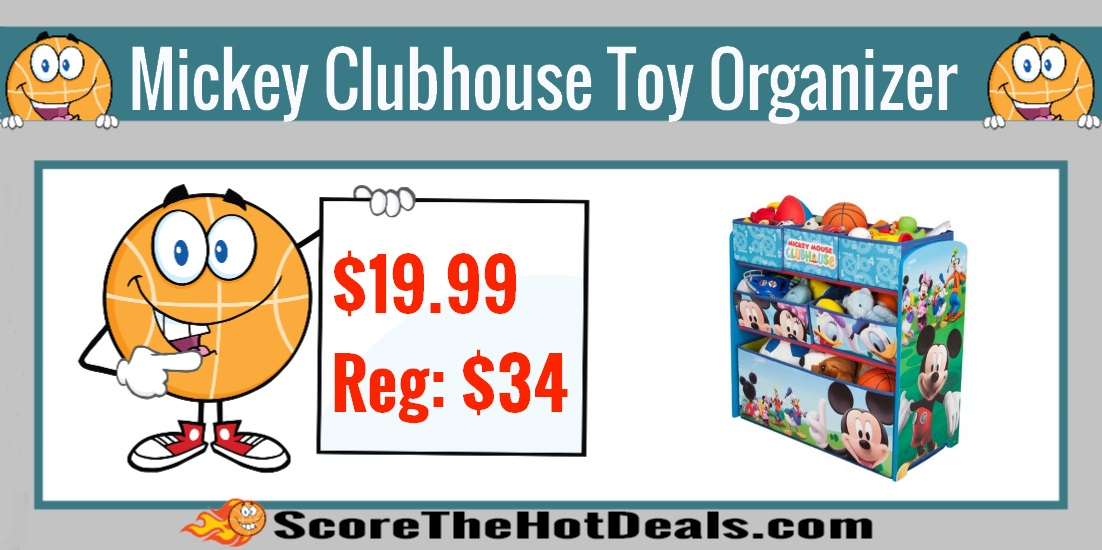 Mickey Mouse Clubhouse Multi-Bin Toy Organizer