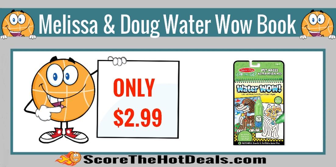 Melissa & Doug Pet Mazes Water Wow Book