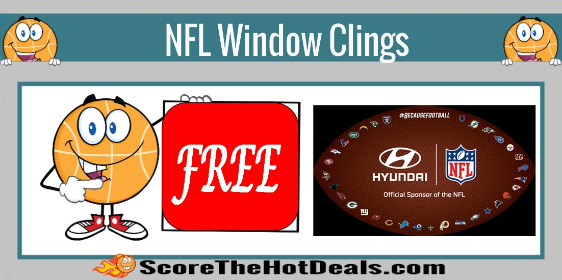 NFL Window Cling