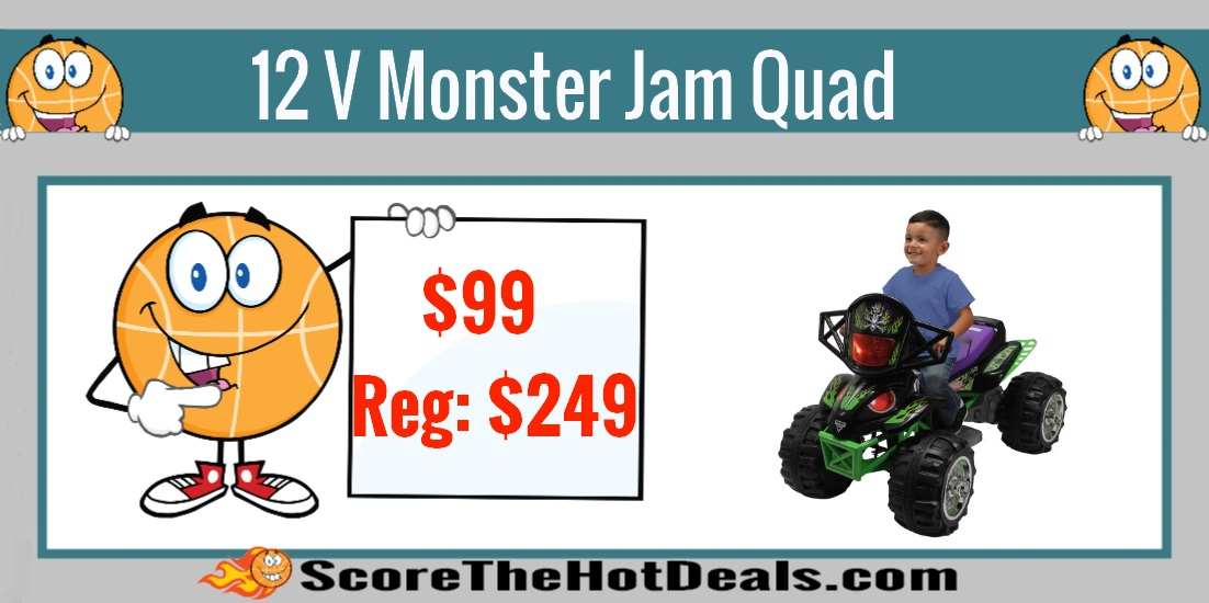 12 V Monster Jam Quad