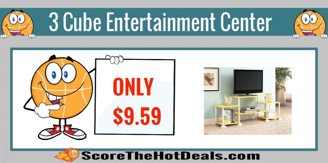 3 cube entertainment center