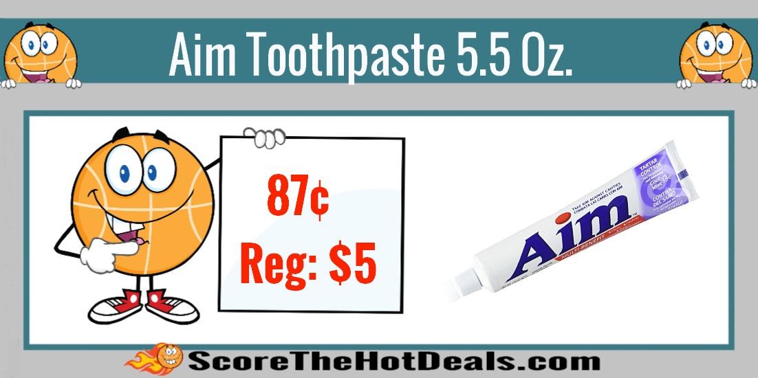 Aim Multi Benefit Tart Control Toothpaste