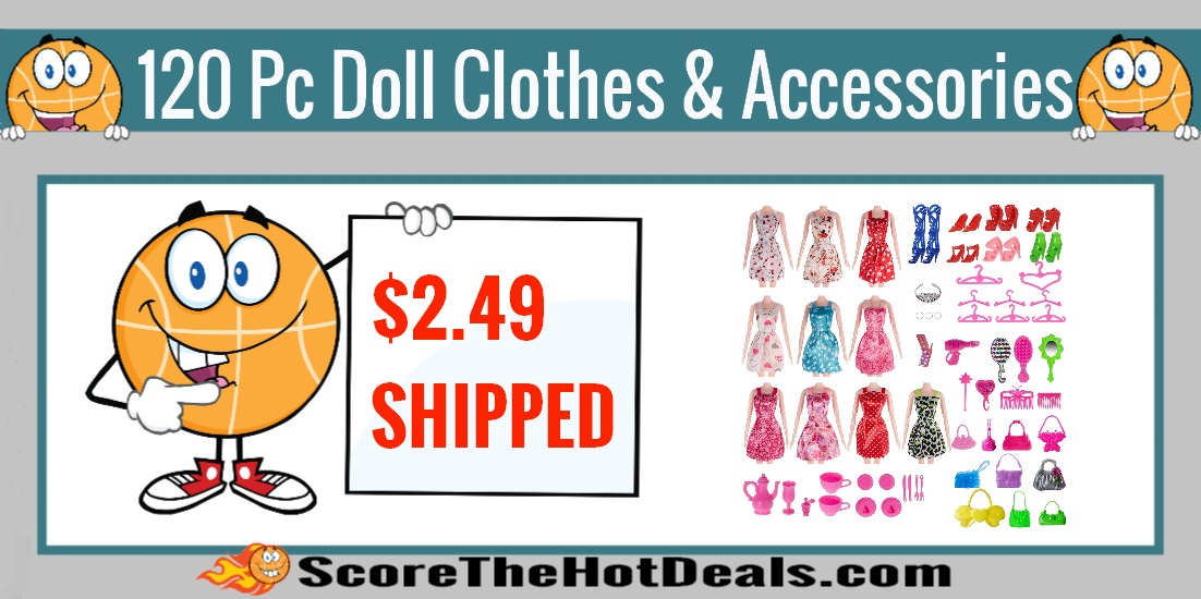 120 Piece Doll Clothing And Accesories Set