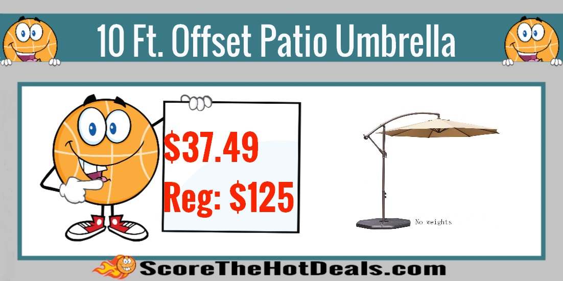 10 Ft. Offset Hanging Patio Umbrella