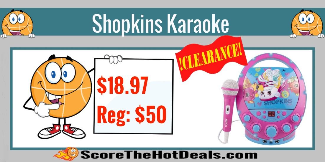 Shopkins Flashing Light Karaoke