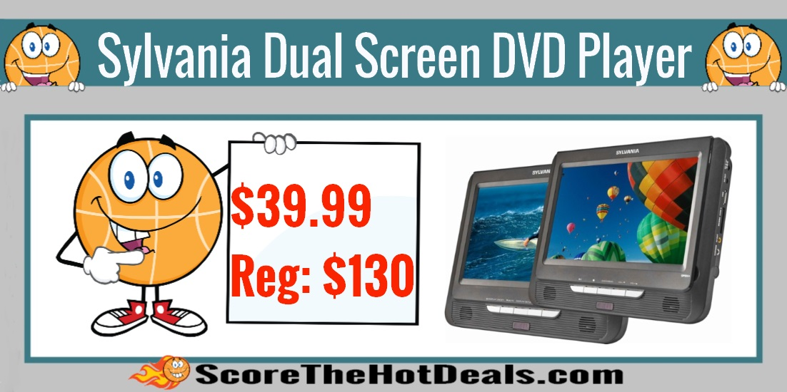 Sylvania Dual Screen Portable DVD Player