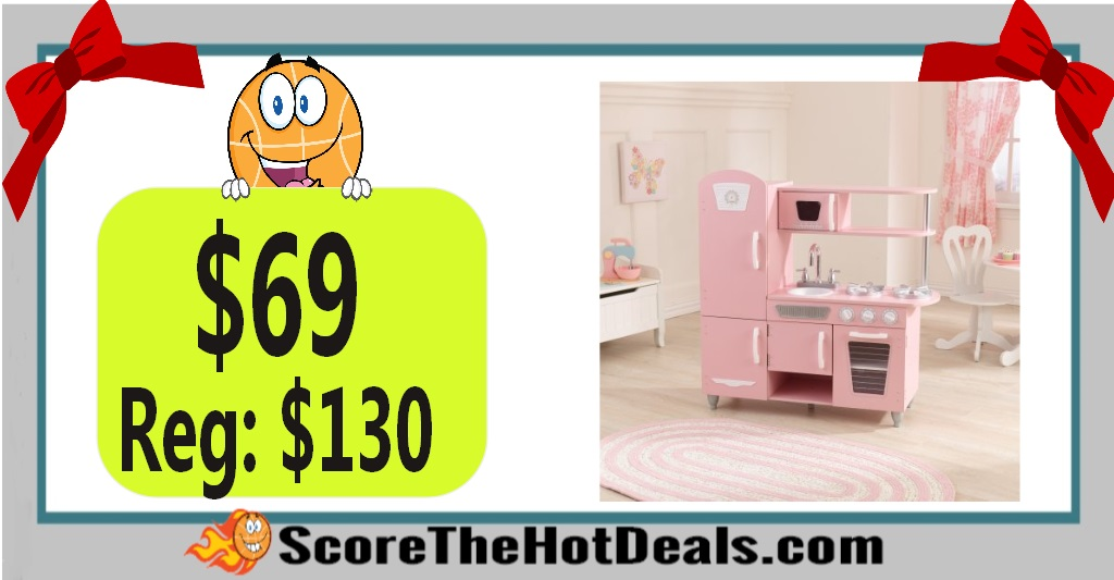 Pink KidKraft Vintage Play Kitchen
