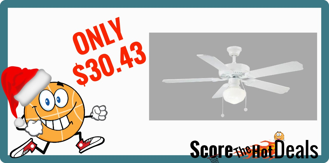 52 in. Indoor White Ceiling Fan with Light Kit