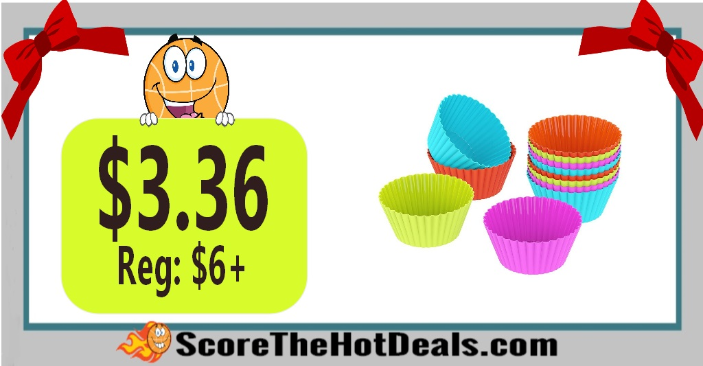 12 Silicone Baking Cups